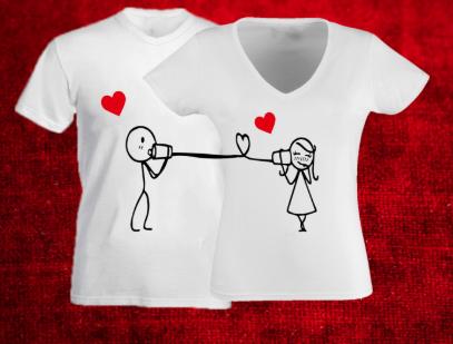 szerelmes póló